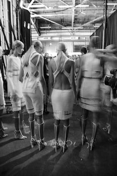 Likes | Tumblr #fashion #backstage #show #greyscale