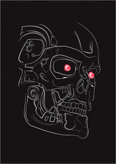 T800 illustration on the Behance Network #movie #vector #illustration #terminator #poster