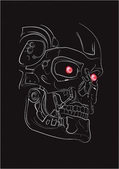 T800 illustration on the Behance Network #movie #vector #illustration #terminator #poster