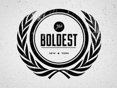 Dribbble - The Boldest by Justin Barber #logo #design #vintage