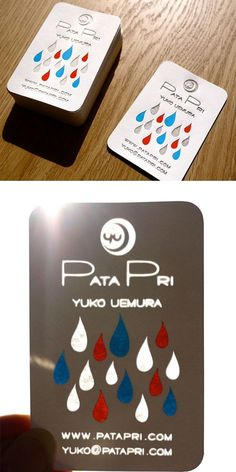 31 Creative Business Card Designs for Your Inspiration - You The Designer | You The Designer #business #card #design #pacheca #drop #rain