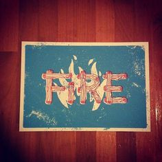 Dribbble - Instagram1.jpeg by Jake Dugard #silkscreen #fire #texture