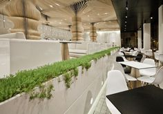 Luxury cafe interior design