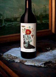MASH PURVEYORS OF THE FINE ART DIRECTION & DESIGN #packaging #wine #label #collage #flower #australian