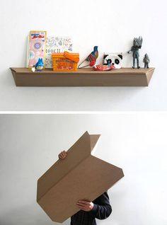 4paredes.com #DIY #cardboard #shelve