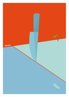 American TV Posters #vector #dexter #poster #darrenhealeycom
