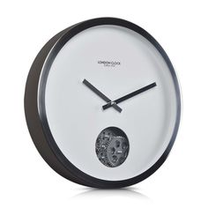 London Clock Company 'Revolution' Wall Clock, Silver, 40cm x 6cm