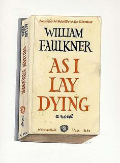 RICHARD BAKER - As I Lay Dying #baker #richard #book #cover #painting #typography