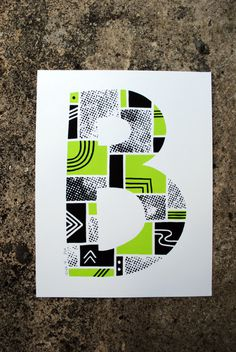 The Letter B #print #typography #type #screen print #letter
