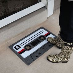 Cassette Doormat #tech #flow #gadget #gift #ideas #cool