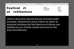 Festival art et architecture by Samuel Larocque #web design #website