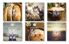 We Bake Bread on Behance #bread #branding