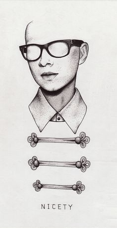 Nicety #glasses #ba #ck #dots #portrait #face