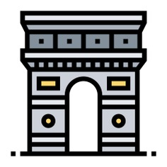 See more icon inspiration related to triomph arc, cultures, architecture and city, arc de triomphe, architectonic, europe, france, paris, buildings and monuments on Flaticon.