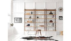 Smart Bookcase Features a Ladder That Pulls Out Immediately, Sticotti Shelving, designed by Alejandro Sticotti #ideas #shelving