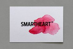 smartheart emotion logotype #heart #red #mart #business #emotion #logic #card #watercolor