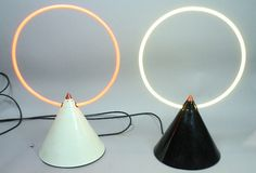 centuria:nnNeon Cone SculpturesZimmerman Studios, c.1970sn #object #lighting #design