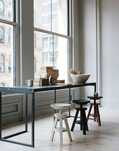 napoleonfour #view #food #stool #kitchen #bar #window #minimalist #table