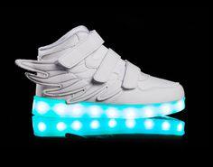 light up shoes led Super Pegasus-White