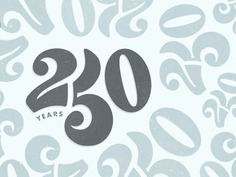 250 Years charlotte pattern typography type anniversary 250 numbers custom lettering