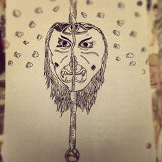 Hanging Around #ink #white #black #pen #sketch