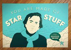 Carl Sagan (Star Stuff) #poster #space #stars