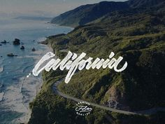 California #inspiration #lettering #type #hand #typography