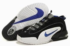 Nike Air Penny 1 White/Black/Blue Men Shoes #shoes