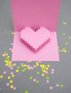 swissmiss #heart #card #pixel