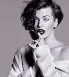 Milla Jovovich by Inez & Vinoodh for The Marella Fall Campaign #model #girl #photography #portrait #fashion #actress #beauty