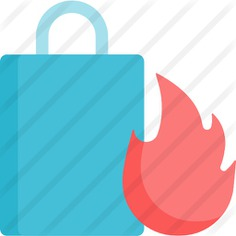 See more icon inspiration related to hot product, commerce and shopping, shopping bag, flame, sale, product, hot and bag on Flaticon.