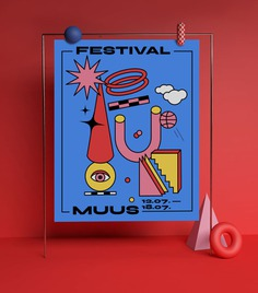 Muus Festival Identity Concept - Mindsparkle Mag Beautiful identity project designed by Fanny Papay for Muus Festival. #logo #packaging #identity #branding #design #color #photography #graphic #design #gallery #blog #project #mindsparkle #mag #beautiful #portfolio #designer