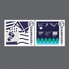 Stamp Design: Camping in Denmark  Philip Battin Studio #design #graphic #denmark #stamp