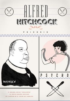 film #ink #alfred #hitchcock #poster #typography