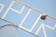 tennis-sign2.png 660×439 pixels #photography #signage #tennis #ball #sport #chris hannah #blue sky