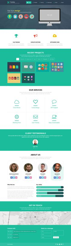 green, website, layout, concept, flat, design #flat #design #website #concept #layout #green