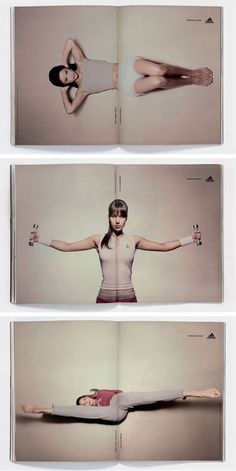 Adidas: Forever Sport double page ads #ads #adidas #advertising #sports #magazine