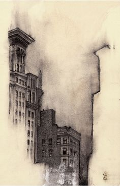 The Naked City by Zachary Johnson #illustration #architecture #black and white #drawing #ink #buildings