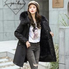 New Arrival Fashion Women Winter Jacket Fur Lining Warm Thicken Ladies Winter Long Coat Parkas Womens Jackets
