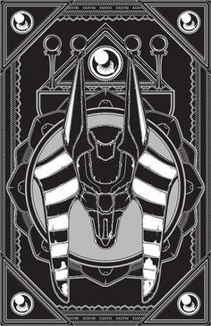 Vector Illustration Collection 01 on the Behance Network #vector #egypt #anubis #black #derek #illustration #gangi