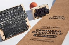 Almacén Parrillero on the Behance Network #recycle #stamp #ecologic #branding #texture #logo #paper