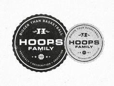 Hoops_family_badge_of_honor #logo #badge #nba #branding