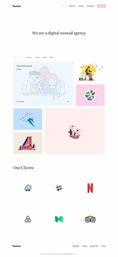 Thorium – Portfolio for Freelancers and Agencies