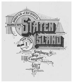 Sanborn Fire insurance map Staten Island