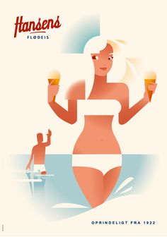 Hansen's Ice Cream #illustration #poster