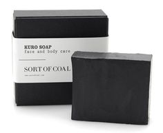 Sort of Coal | Design Milk #white #charcoal #black #simple #eco