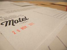 Motel hotel branding / brand identity on Behance #print #gocco