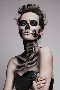 Skeleton Make Up by Mademoiselle Mu | DeMilked #skeleton #photography #makeup