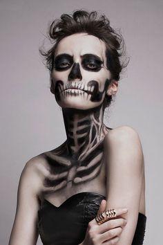 Skeleton Make Up by Mademoiselle Mu | DeMilked