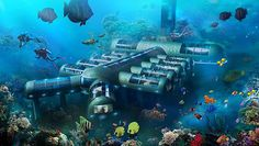 Would You Stay In An Underwater Hotel? You can win a free stay when the hotel opens #Underwater #LuxuryHotel #PlanetOcean